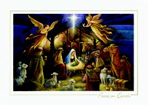 Old Master Adoration Religious Christmas Cards